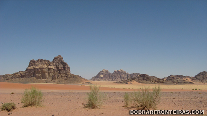 As cores do deserto de Wadi Rum