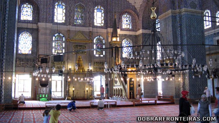 Interior da Mesquita Nova (Yeni Cami), Istambul