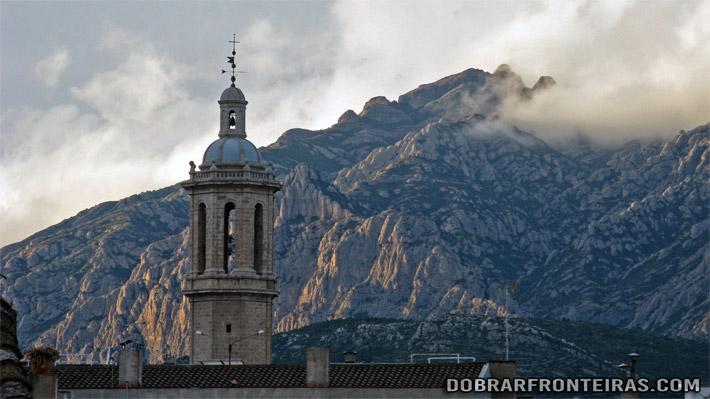Montserrat visto de Esparraguera