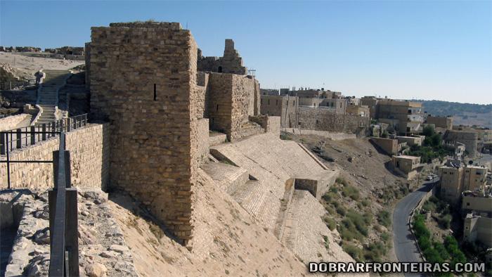 Muralhas do castelo de Kerak