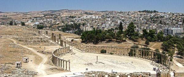Ruínas romanas de Jerash, Jordânia