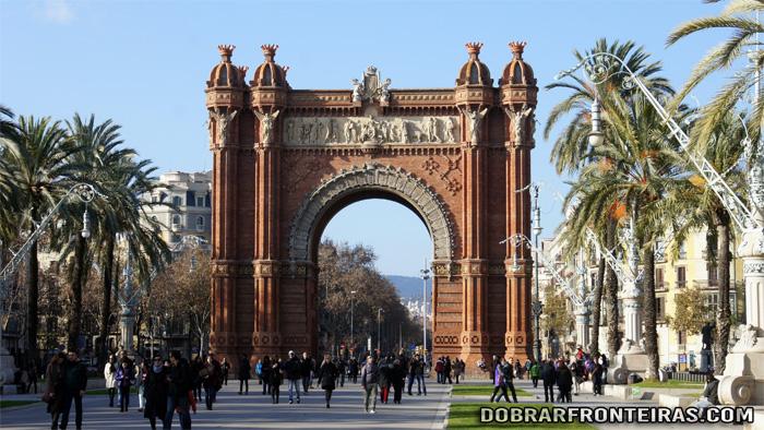 O Arco do Triunfo em Barcelona