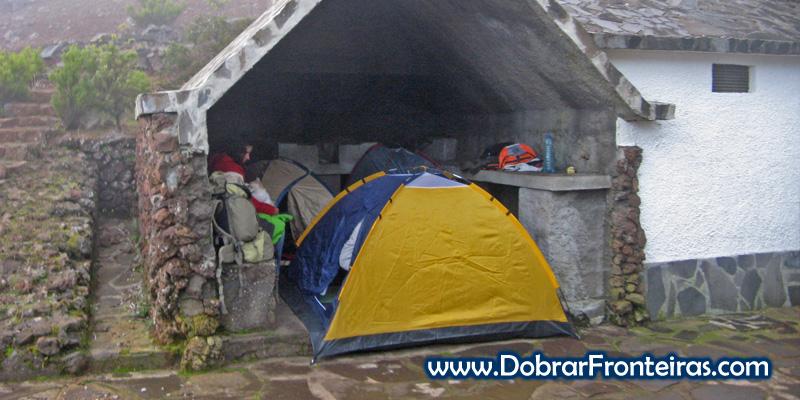 """O nosso """"hotel"""" improvisado no Pico Ruivo, Ilha da Madeira"""