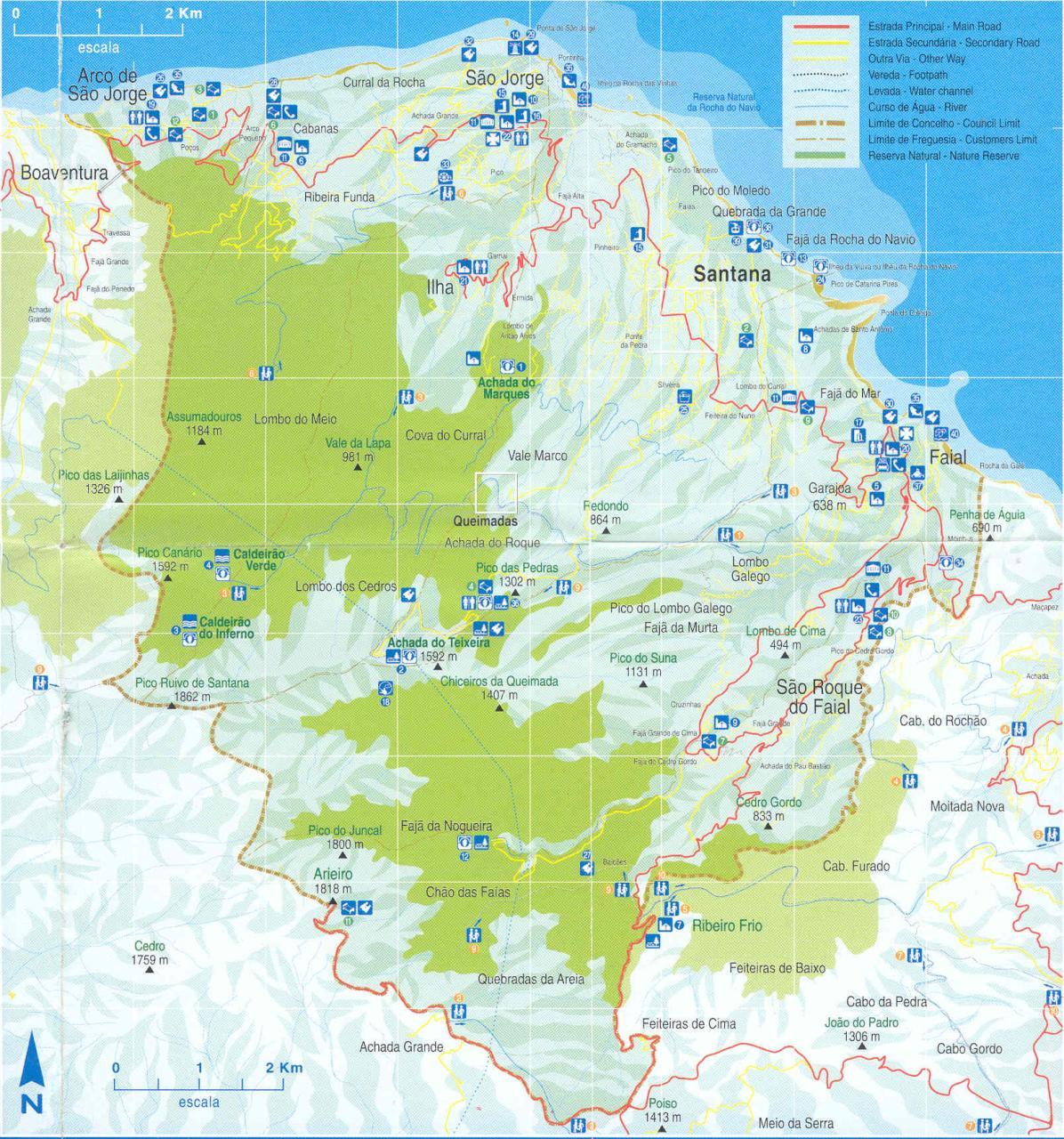 mapa santana madeira Casas típicas de Santana, Madeira   Dobrar Fronteiras mapa santana madeira