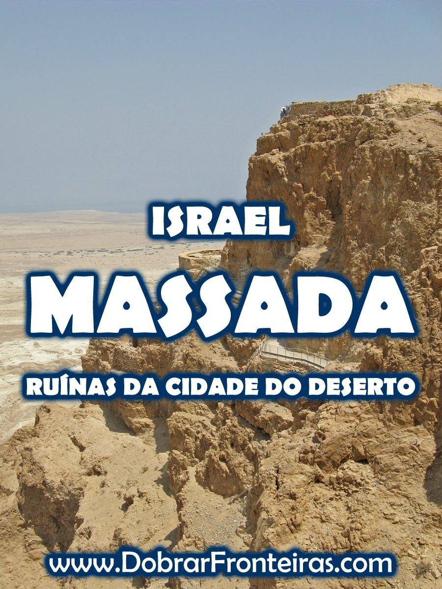 Ruínas de Massada em Israel
