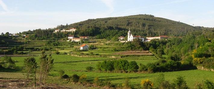 Paisagem rural no Caminho Português de Santiago