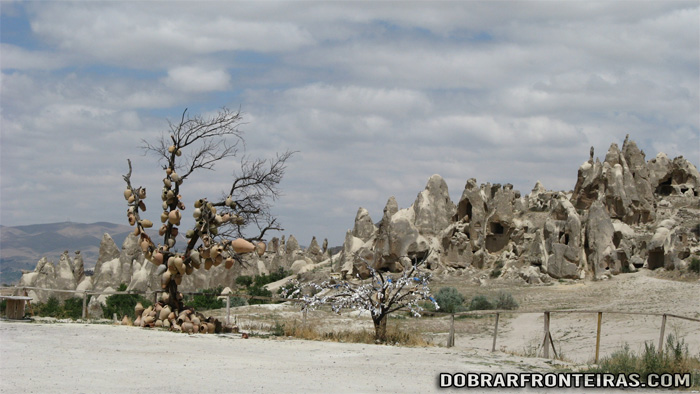 Paisagem do outro mundo na Capadócia, Turquia