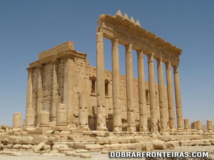 Templo de Bel nas ruínas de Palmira, Síria