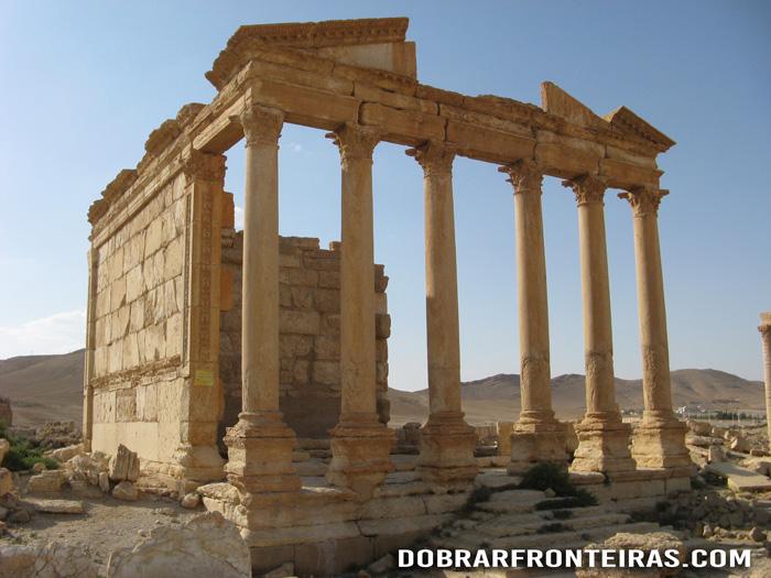 Templo funerário nas ruínas de Palmira, Síria