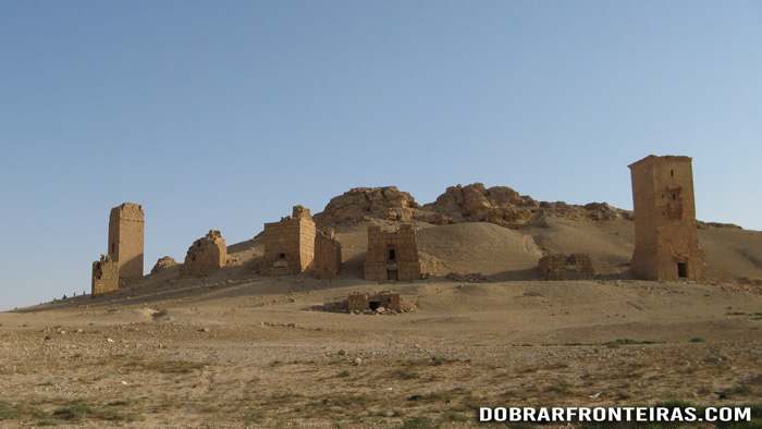 Vale dos túmulos em Palmira, Síria