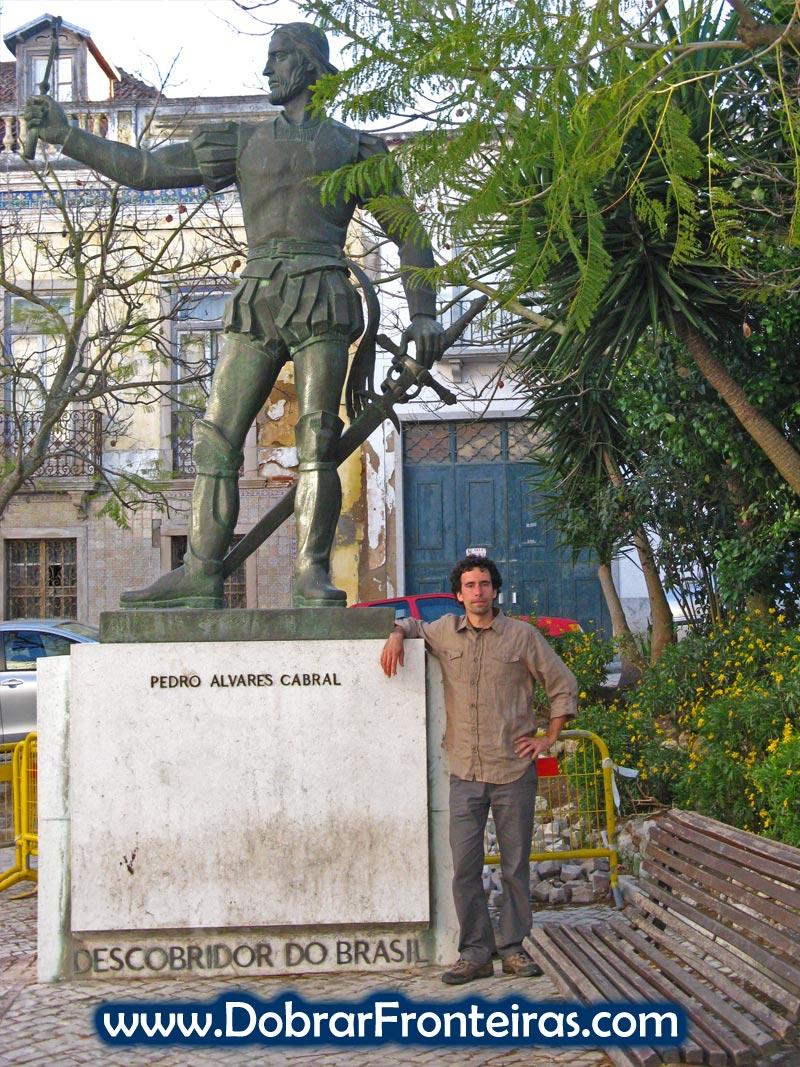 Monumento a Pedro Alvares Cabral em Santarém, Portugal