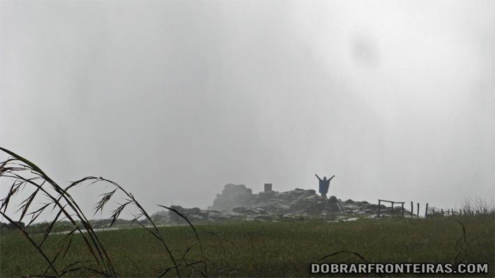 """Eu no """"Danger Point"""" lado do Zimbabwe em Junho 2014"""