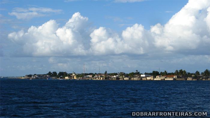 Chegada à ilha de Moçambique