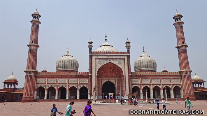 Mesquita de Jama Masjid em Deli