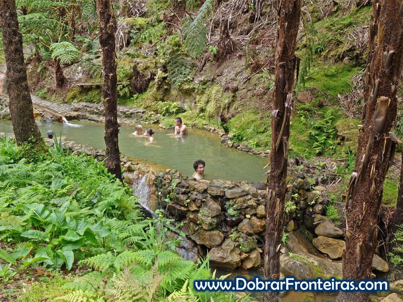 Caldeira Velha na ilha de São Miguel, Açores