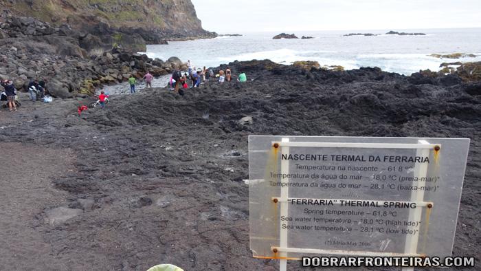 Nascente termal da Ferraria, Açores
