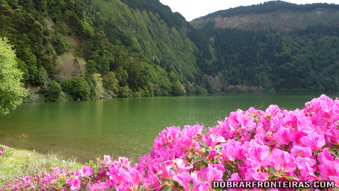Lagoa Verde uma das Lagoas das Sete Cidades, Açores