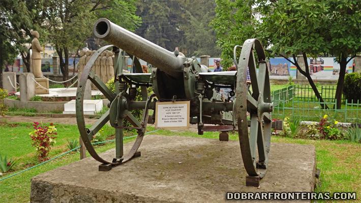 Canhão usado na batalha de Adawa contra o exército italiano