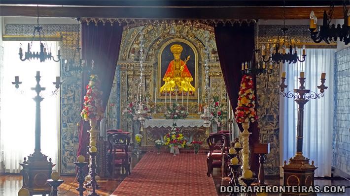 Veneradíssima imagem do Senhor Santo Cristo dos Milagres em Ponta Delgada