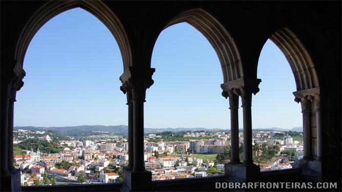 Vistas da cidade de Leiria a partir do castelo