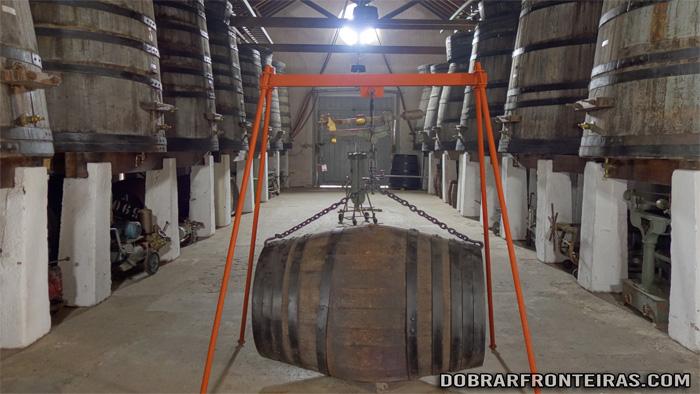 Sala dos Balseiros no Museu Nacional do Vinho em Alcobaça