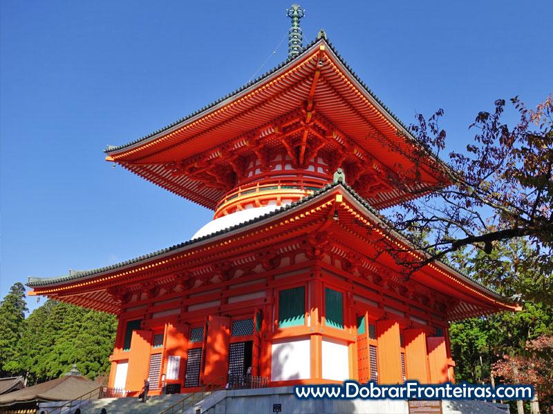 Pagode de Konpon Daito em Koyasan