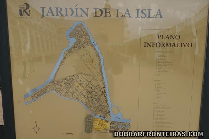 Planta do Jardim da Ilha em Aranjuez