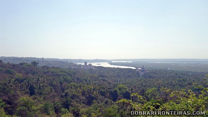 Linda vista de Goa a partir da capela da Senhora do Monte