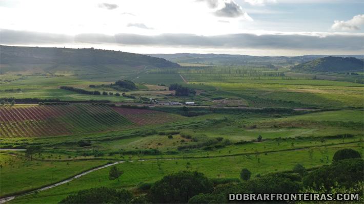 Vista sobre o vale do Arelho