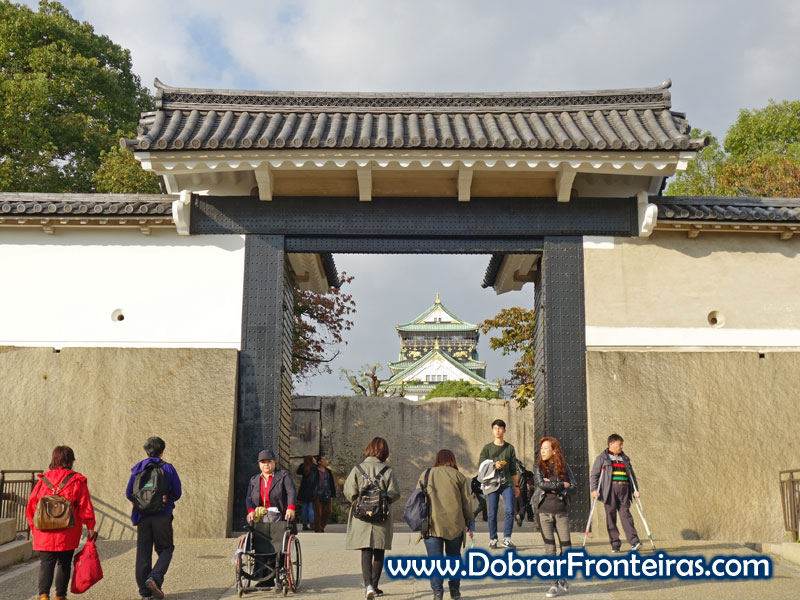 Entrada no castelo de Osaka