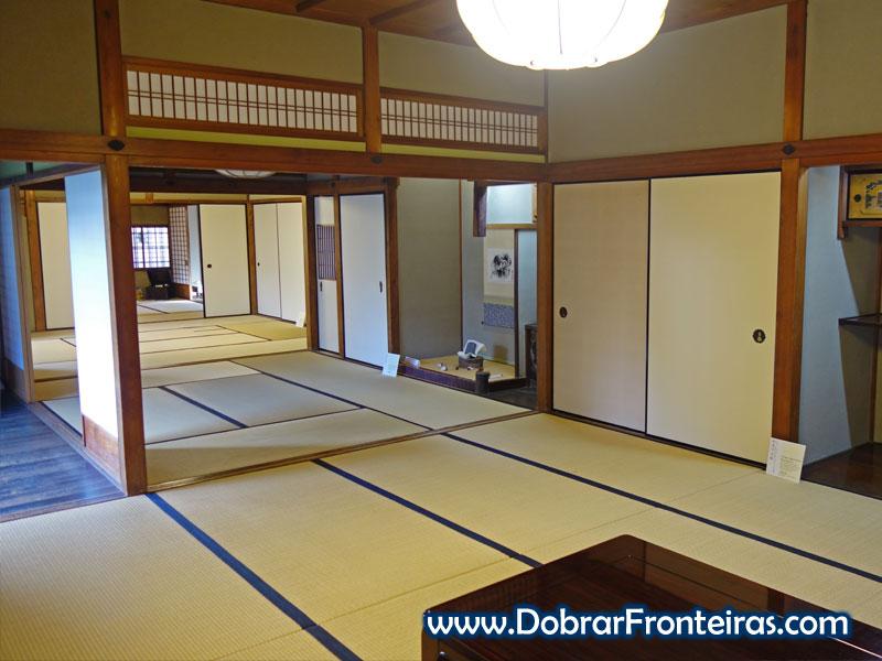 Interior de casa típica japonesa em Nara