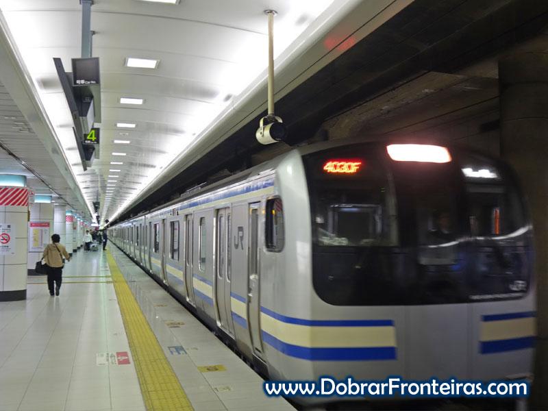 Comboio da linha Sobu - Tóquio