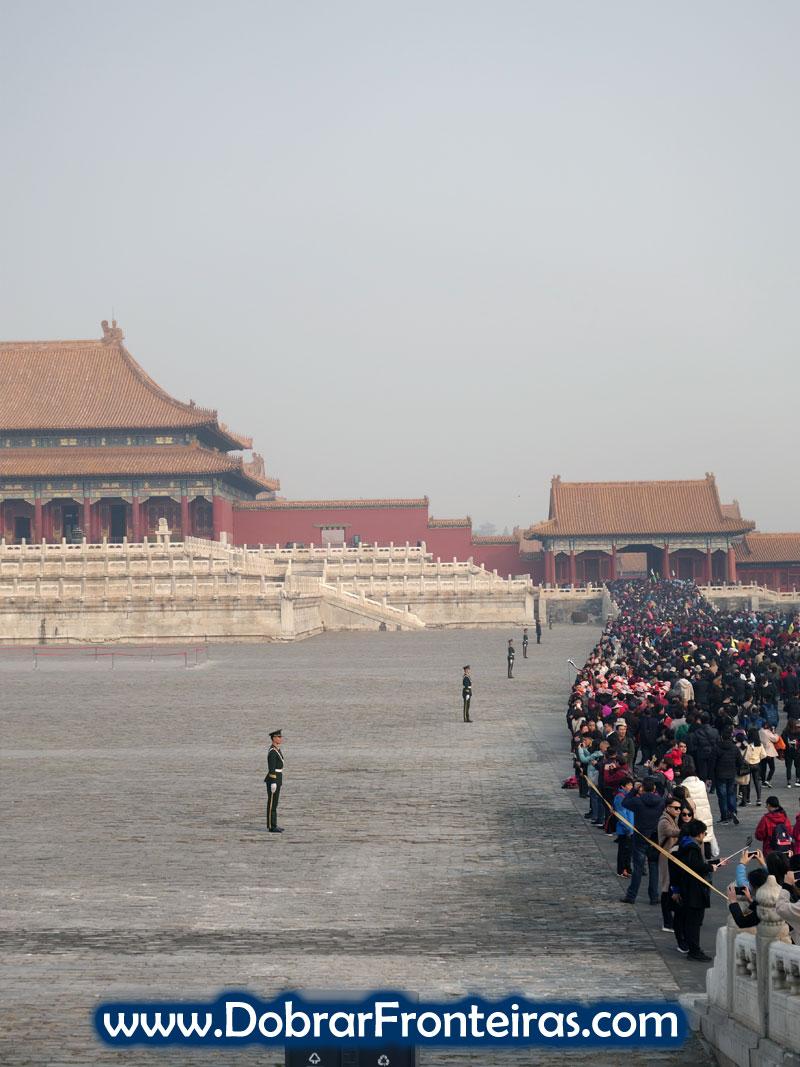Guardas na Cidade Proibida em Pequim