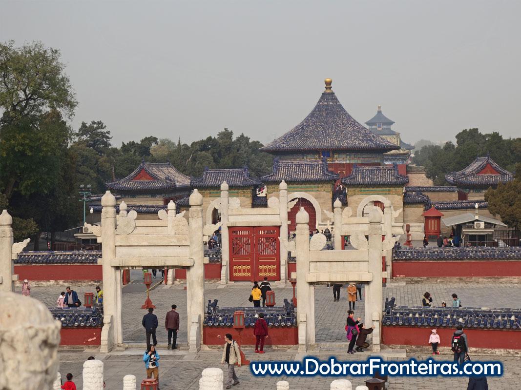 Edifícios no templo do Céu